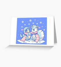 Frosty Forms Greeting Card