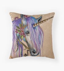 The Magical Faery Unicorn Throw Pillow