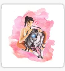 Wheatley and Chell Sticker