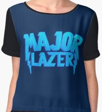 Major Lazer Blue Women's Chiffon Top