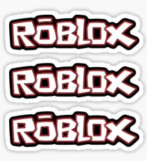 Roblox stickers x3 [black] Sticker