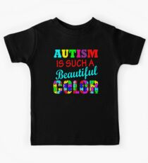 Autism is such a beautiful color Autism Awareness shirt stickers cups Kids Tee