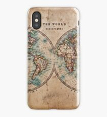 World Map Mid 1800s iPhone Case