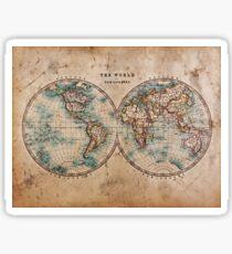 World Map Mid 1800s Sticker