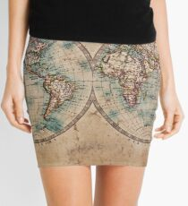 World Map Mid 1800s Mini Skirt