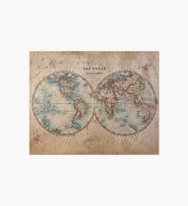 World Map Mid 1800s Art Board