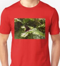 A Gem in the Jungle - Red and Black Swallowtail Butterfly Unisex T-Shirt