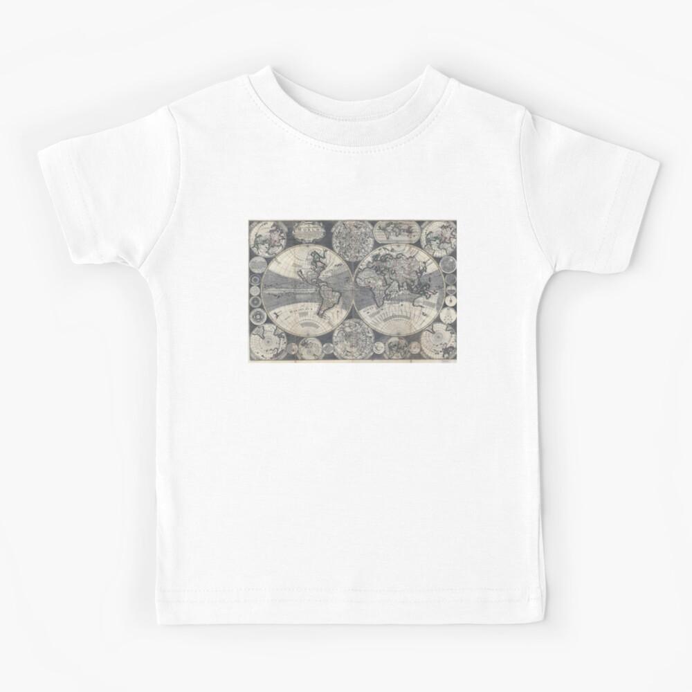 World Map 1702 Kids T-Shirt