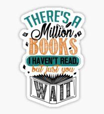 Pegatina Hay un millón de libros que no he leído ...