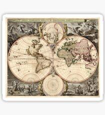 World Map 1690 Sticker