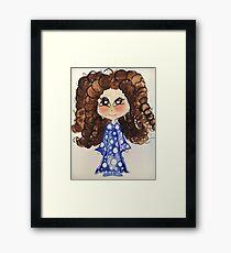 Little girl Love your curls  Framed Print