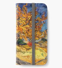 The Mulberry Tree by Vincent van Gogh iPhone Wallet