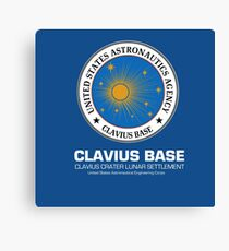 Clavius Base : Inspired by 2001 : A Space Odyssey Canvas Print