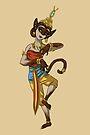 Siamese Cat Thai Dancer Girl MONSTER GIRLS Series I by angelasasser
