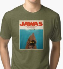 Jawas : Inspired by Star Wars & Jaws Tri-blend T-Shirt