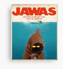 Jawas : Inspired by Star Wars & Jaws Canvas Print