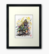 Link and Zelda Samurai Duo ready to fight! Framed Print