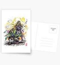 Link und Zelda Samurai Duo bereit zu kämpfen! Postkarten