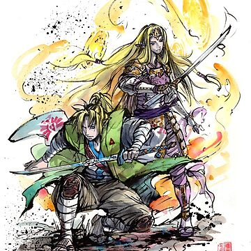 Link and Zelda Samurai Duo ready to fight! by Mycks