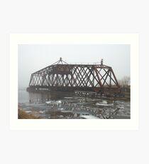 Turn Style Bridge in Fog Art Print