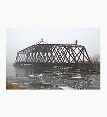 Turn Style Bridge in Fog Photographic Print