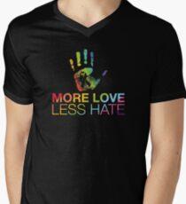 More Love Less Hate, Pray For Orlando Men's V-Neck T-Shirt
