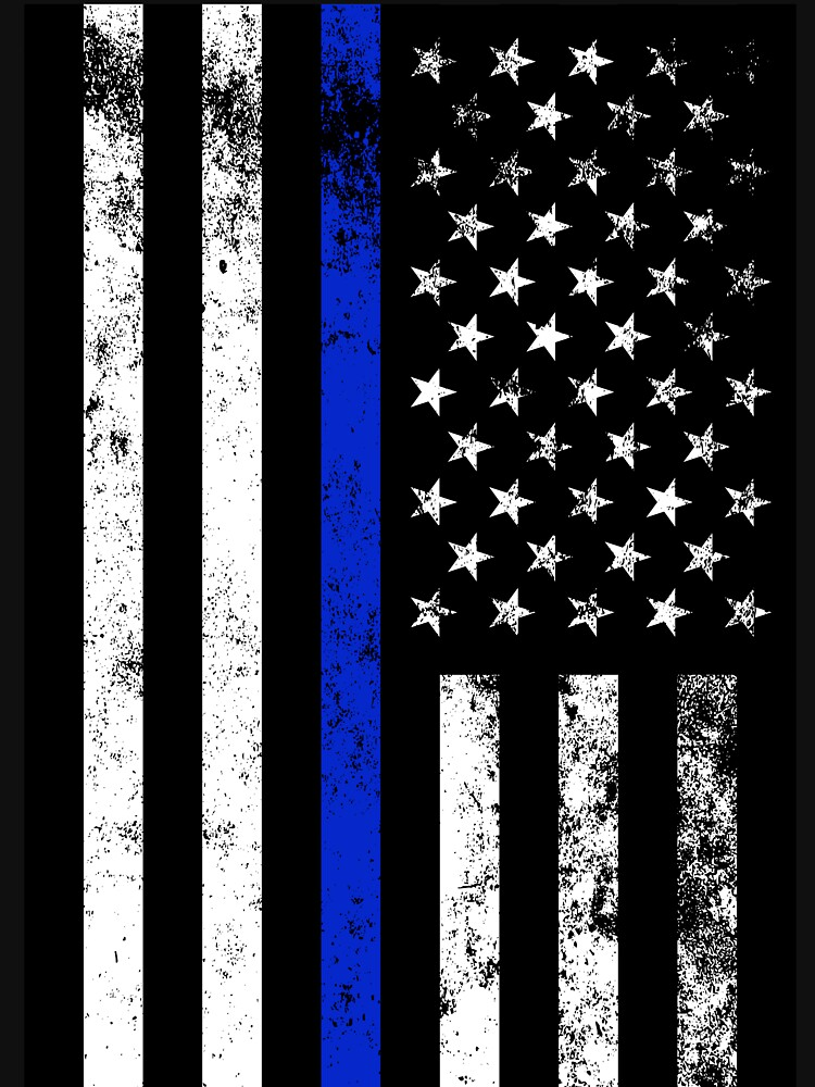 police styled distressed vertical american flag lightweight hoodie