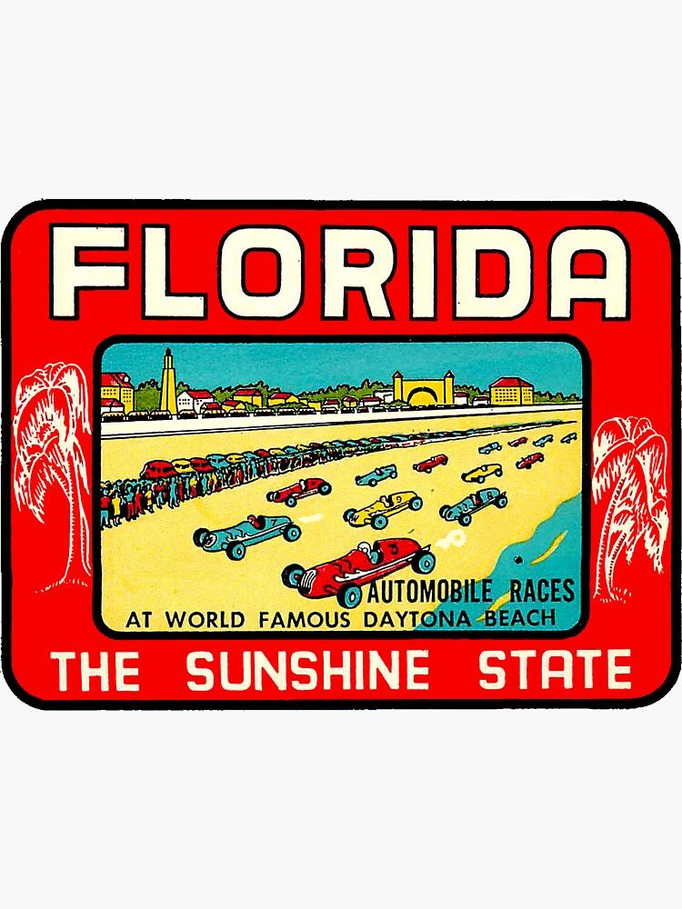 Daytona Beach Florida Vintage Travel Decal by hilda74