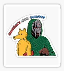 MF DOOM AMERICA'S MOST BLUNTED Sticker