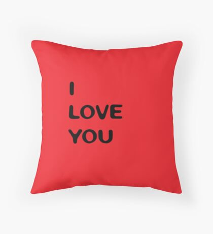 I love you (red) Throw Pillow