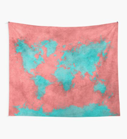 world map 40 Wall Tapestry