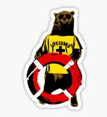 Grizzly lifeguard Sticker