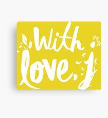 LOVE WITH J - JESSICA Canvas Print