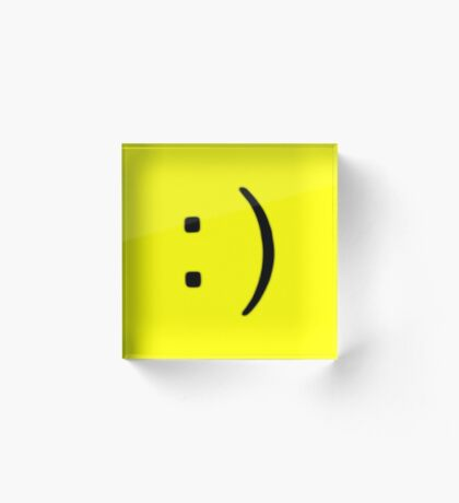Smiley (yellow) Acrylic Block