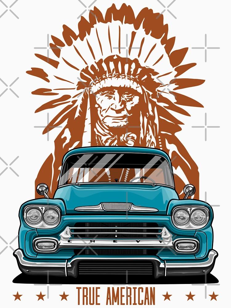 Echter Amerikaner. Chevy Apache Pickup (Aquamarin) von OlegMarkaryan