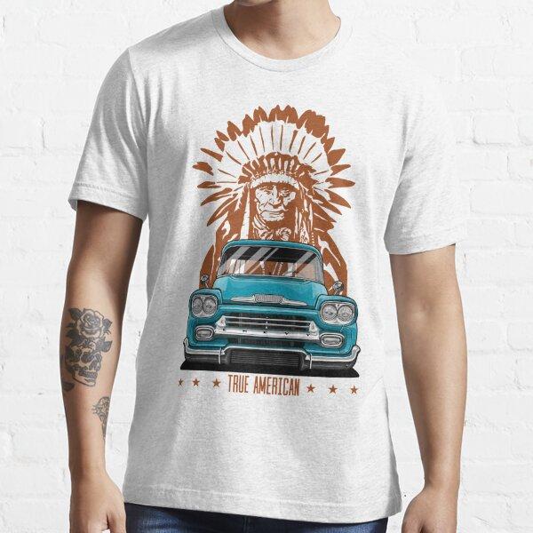 True American. Chevy Apache Pickup Truck (aquamarine) Essential T-Shirt