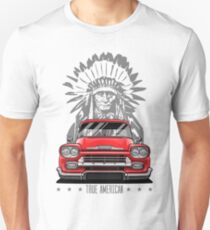 True American. Chevy Apache Pickup Truck (red) T-Shirt