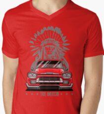 True American. Chevy Apache Pickup Truck (red) T-Shirt