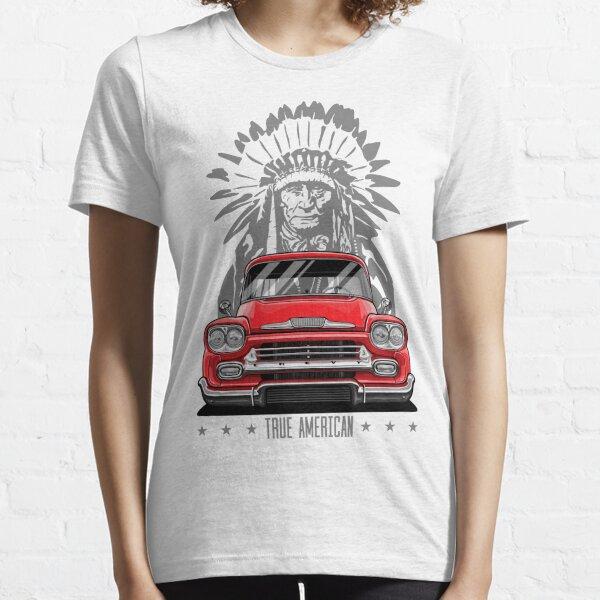 True American. Chevy Apache Pickup Truck (red) Essential T-Shirt
