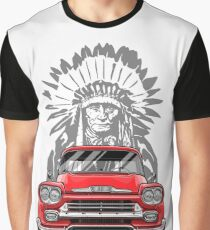 True American. Chevy Apache Pickup Truck (red) Graphic T-Shirt