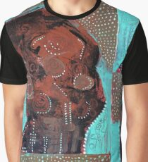 Abstract Figure Portrait Painting Graphic T-Shirt