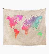 world map 41 Wall Tapestry