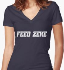 Feed Zeke Women's Fitted V-Neck T-Shirt