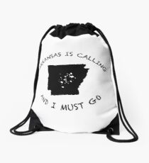 Arkansas is calling... Drawstring Bag