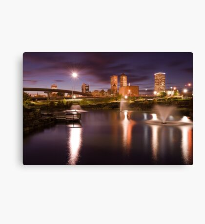 Tulsa Lights - Centennial Park View Canvas Print