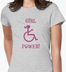 Girl Power! female wheelchair empower Women's Fitted T-Shirt