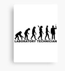 Evolution laboratory technician Canvas Print