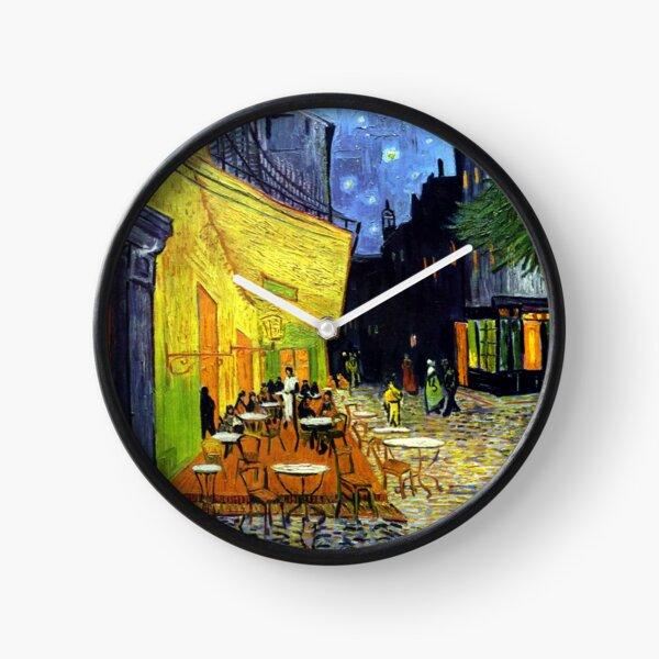 Café Terrace at Night by Van Gogh Clock