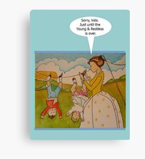 "Anti-""Helicopter Parenting"" for Young & Restless Canvas Print"