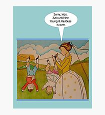 """Anti-""""Helicopter Parenting"""" for Young & Restless Photographic Print"""
